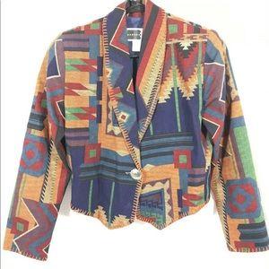 Rhonda Stark womens southwestern blazer jacket